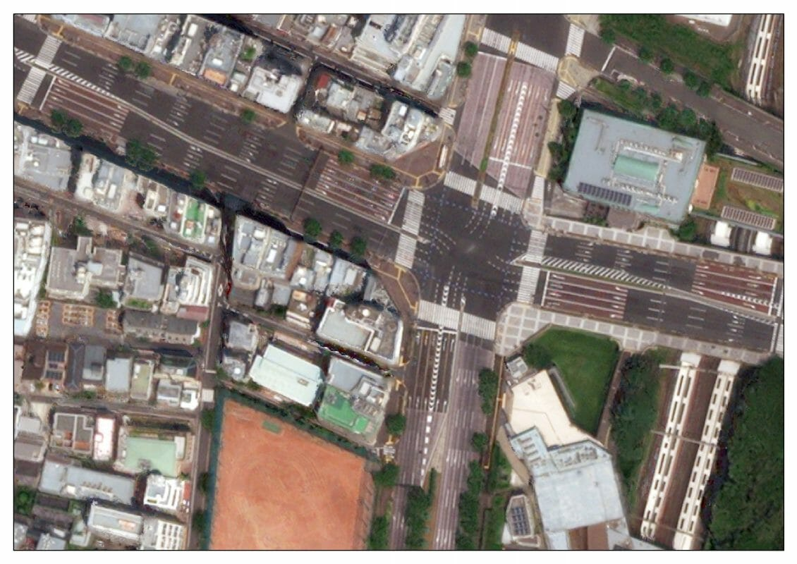 Satellitenbild der Tokio-Region von NTT DATA.