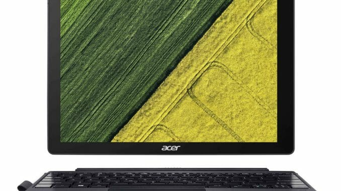 Das Switch 5 ist Acers erstes 2-in-1-Convertible mit lüfterlosem Core i7. © Acer