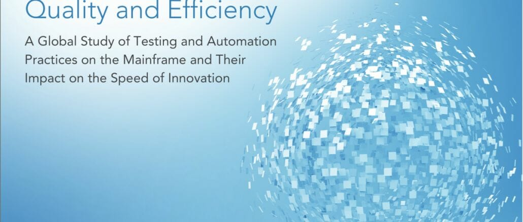 """Das Cover der Compuware-Studie """"Test Automation: The Key to Increasing Velocity, Quality and Efficiency""""."""