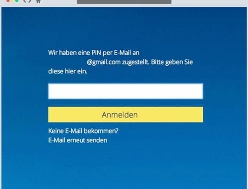 Die Mobile-PIN per E-Mail ist in Situationen hilfreich