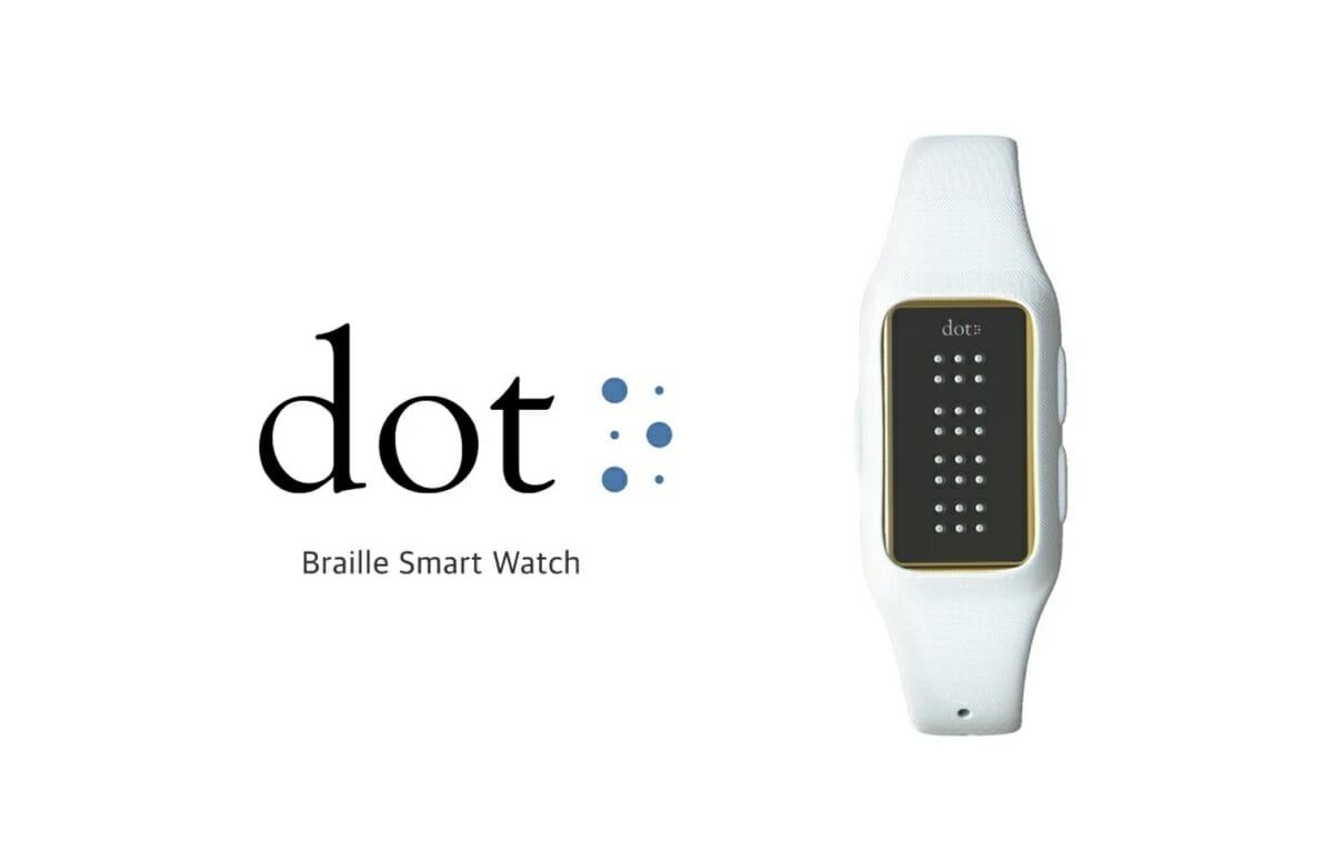 Die Smartwatch von Dot hat ein Braille-Display. (c) fingerson.strikingly.com