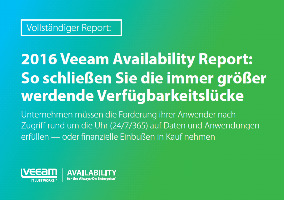 2016 Veeam Availability Report (c) Veeam Software GmbH
